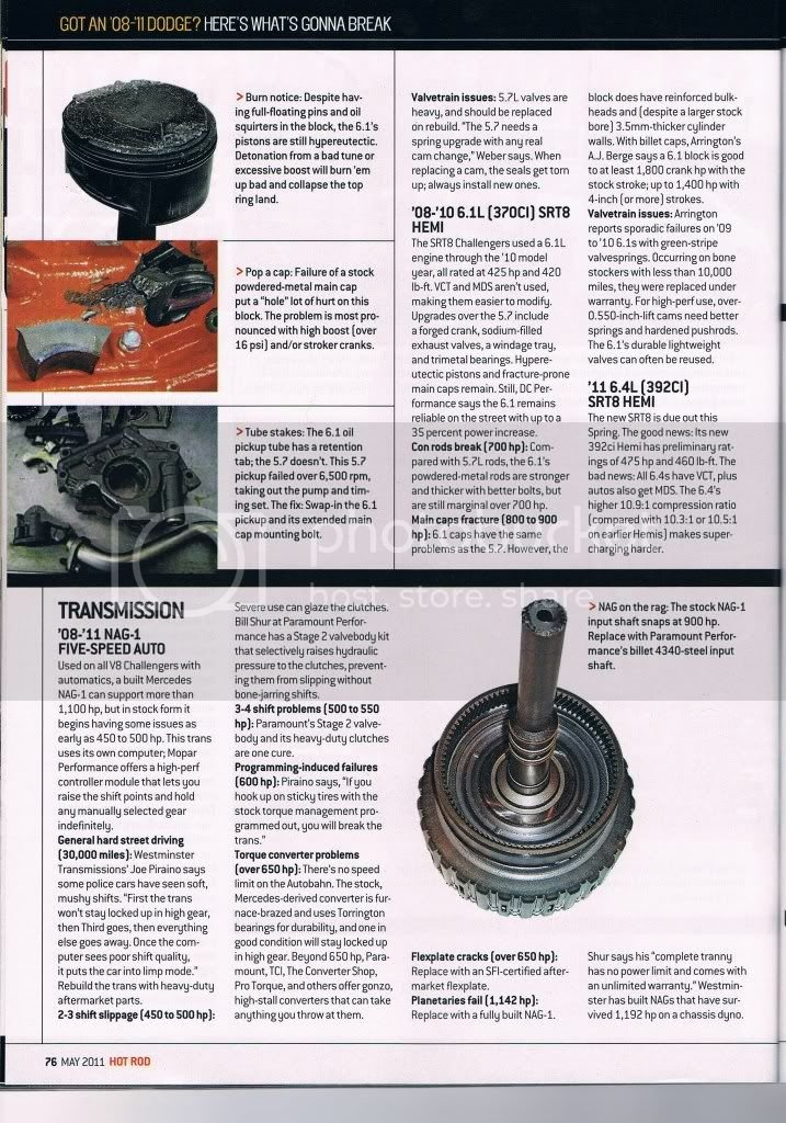 May 2011 Hot Rod Article: Got An 08-11 Dodge? Here's What's
